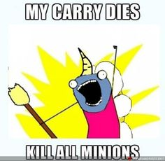 Lol throwing bananas at minions for life