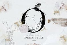Spring Cycle Alphabet & Graphics by The Everlasting Story on @creativemarket