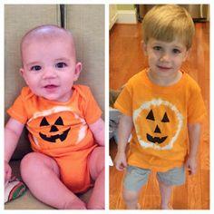 Tie Dye Pumpkin Shirts.  Super easy and SO cute!