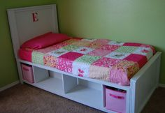 Small and Simple: Twin Storage Bed New Bed for Haley?