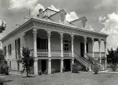 Mt. Airy Plantation house. East Bank of River Rd, LA. Demolished by Kaiser Aluminum, 1954