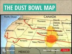 34 Best Cl 5/6 images | Dust bowl, Infographic, Dust storm Trail Dust Bowl Map on teapot dome scandal map, new orleans map, salinas valley map, dust storm, colorado map, dust pneumonia, wpa map, civil war map, texas map, harlem renaissance map, treaty of guadalupe hidalgo map, oklahoma map, watergate scandal map, great plains map, vietnam war map, united states map, grand canyon map, desertification map, intensive farming map,
