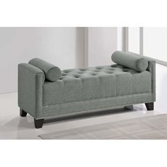 Baxton Studio Walsh Upholstered Modern Tufted Bench - Overstock™ Shopping - Great Deals on Baxton Studio Benches