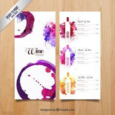 Menu de vinhos Aguarela