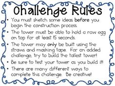 EGG TOWER: ENGINEERING CHALLENGE PROJECT ~ GREAT STEM ACTIVITY! - TeachersPayTeachers.com