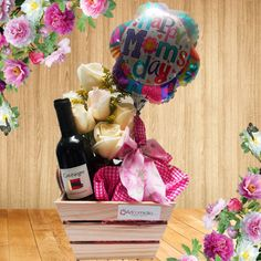 Mothers Day Gifts – Gift Ideas Anywhere Candy Gift Baskets, Candy Gifts, How To Wrap Flowers, Anniversary Pictures, Balloon Gift, Chocolate Bouquet, Candy Bouquet, Mom Day, Pink Candy