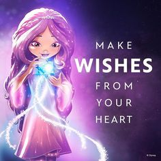 Make wishes from your heart and soul Doll Quotes, Darling Quotes, Ashlynn Ella, Inspirational Qoutes, Star Wars, Star Darlings, Anime Qoutes, Western World, Disney Stars