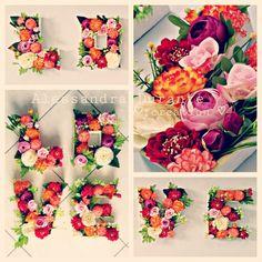 #flowerletters #handmade #withlove #alessandradurante