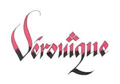 Véronique - Calligraphie