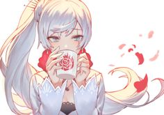 Anime, manga, and video game fan-art artworks from Pixiv (ピクシブ) — a Japanese online community for artists. Manga Anime, Rwby Anime, Rwby Fanart, Anime Art Girl, Manga Girl, Anime Girls, Tsundere, Avatar Foto, Rwby White Rose