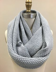 This infinity knit scarf is designed and knitted with lots of love and care, HANDMADE, you will LOVE it! 100% pure natural organic cotton knit scarf,