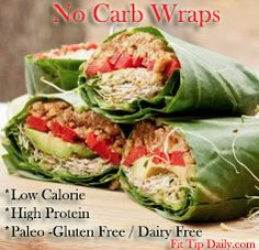 Shed The Weekend Pounds – Low Carb Recipe Monday – Carbless Wraps