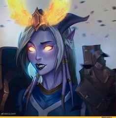 EvaSolo-artist-Draenei-World-of-Warcraft-3451580.jpeg (1000×1000)