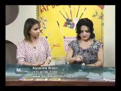 Craquelê no vidro - Artesã Marisa Magalhães - Aquarela Brasil Tintas - Parte 2/2 - YouTube