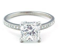 Art Deco Platinum 121ct Engagement Ring Platinum engagement rings