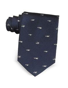 Helicopter Woven Silk Tie #DesignerHandbags #DesignerShoes