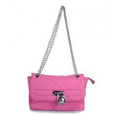 Michael Kors Hamilton Quilted Flap Shoulder Bag Pink