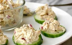 clean eating These tuna salad cucumber bites are made with a homemade coconut oil mayo, which is full of paleo friendly healthy fats. Perfect for lunch or snacking. Tuna Recipes, Appetizer Recipes, Low Carb Recipes, Cooking Recipes, Healthy Recipes, Cucumber Recipes, Drink Recipes, Snacks Recipes, Smoothie Recipes