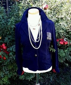 Vintage Tommy Hilfiger Jacket Military School Girl Jersey Style Cardigan Jacket | Clothing, Shoes & Accessories, Women's Clothing, Coats & Jackets | eBay!