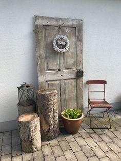 Old door - # old # door - Alte Tür - Gardener Vintage Gardening, Vintage Garden Decor, Diy Garden Decor, Garden Art, Organic Gardening, Porch Garden, Garden Doors, Garden Chairs, Old Door Decor