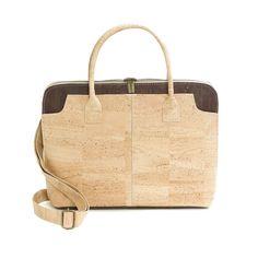 Kork Laptoptasche «Chocolate» – Brieftasche aus Kork – Korkeria Fashion, Laptop Tote, Fanny Pack, Pocket Wallet, Handmade, Handbags, Leather, Moda, Fashion Styles