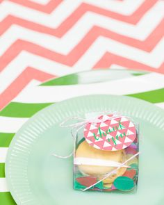 colorful macaron packaging