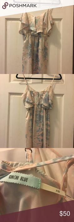 Kimchi Blue watercolor dress size XS Kimchi Blue watercolor dress size XS, tieback detail, only worn once Kimchi Blue Dresses Mini