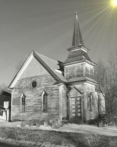 i grew up near here. i drove by this church 3 times last week. / Ex-house of worship. Benton, Maine, 2014.
