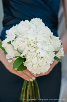 White and ivory hand tied bouquets - for the bridesmaids