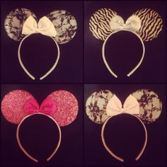 Minnie Mouse Ears Headband by BombshellsBowTique on Etsy, $6.00