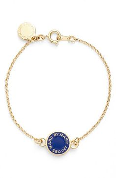 MARC BY MARC JACOBS Logo Pendant Line Bracelet available at #Nordstrom