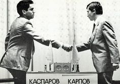 In young Kasparov faced veteran Karpov for the World Chess Championship. After 48 games and a controversial end, Karpov got defend his world title which a year later would be taken away by Kasparov at the age of 22 years. Anatoly Karpov, Garry Kasparov, Hungry Children, Kids, Berlin Street, Rare Videos, Classic Board Games, Old School Toys, Chess Players