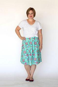 Girl Charlee Fabrics: Tutorial Tuesday :: Everyday Skirt Tutorial from It's Always Autumn