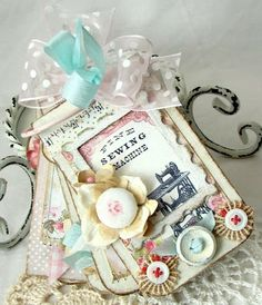 beautiful tag book by beatriz jennings, site has many shabby chic paper crafts