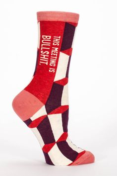I hate to be the one to break it to you... NOT! Women's shoe size 5-10.  Meeting Socks by Blue Q. Accessories - Socks Cape Cod Massachusetts