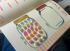 Bullet Journal Weight Loss Mason Jars. 26 pounds to lose, 26 cupcakes! Ironic, I know! (weight loss journal)