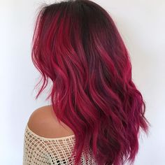 Didn't Know You Needed Red Ombré Hair Inspo Until Now We've rounded up our favorite red ombré hair ideas. See all the gorgeous inspo here.We've rounded up our favorite red ombré hair ideas. See all the gorgeous inspo here. Pink Ombre Hair, Brown Ombre Hair, Magenta Red Hair, Brown And Pink Hair, Deep Red Hair, Braided Hairstyles, Cool Hairstyles, Protective Hairstyles, Hairstyles Haircuts