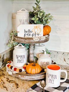 Fall Kitchen Decor, Kitchen Tray, Fall Home Decor, Country Fall Decor, Kitchen Corner, Thanksgiving Decorations, Seasonal Decor, Fall Decorations, Thanksgiving Ideas