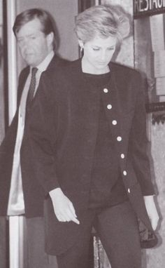 .A Sad Princess Of Wales Dressed In Black Left The Austrian Ski Resort Of Lech on Monday, March 30, 1992 With Her Husband To Travel Home Following The Sudden Death Of Her Father Earl Spencer on March 29, 1992.
