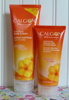 ONE NEW CALGON NOURISHING BODY CREAM. 8 OZ. ONE NEW CALGON MOISTURIZING SHOWER GEL/FOAM BATH. 4 OZ. HAWAIIAN GINGER. ~ DISCOVER HAWAIIAN GINGER ~. BODY CREAM AND SHOWER GEL. • If you use a credit card, you still earn any rewards that apply to that card. | eBay!