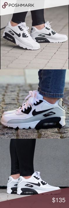 NIKE AIR MAX 90 WOMENS SHOES LEATHER SIZE 6.5 Shoes are a size 5 youth gs. Which is a women's size 6.5 you can take a look at the sizing chart for reference. Shoes are brand new without box. Nike Shoes Sneakers