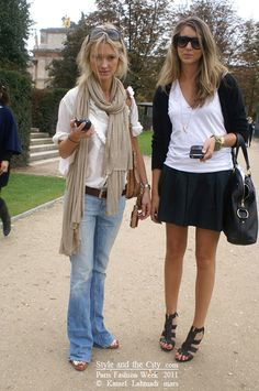 Cute casual outfit (on the left)- great  for a travel day
