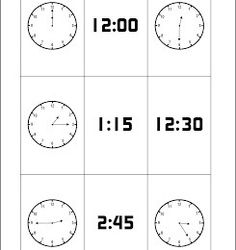 Free Printable Telling Time Card Game