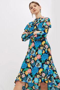 Alpha Floral Frill Dress
