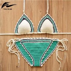 88e98805bf731 Sexy Handmade Crochet Bikini women crochet Swimsuit Brazilian biquini 2016  Crochet Swimwear Bathing Suit hot sale beach suit