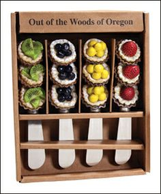 Tarts Spreader set of 4, by Out of the Woods of Oregon