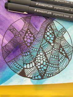 Loving my staedtler pens. They do great in the sun and heat! #zentangle #staedtler