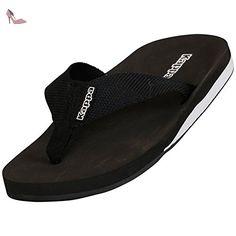 Kappa  AMPHIB Footwear unisex, Tongs adulte mixte - Noir - Schwarz (1110 black/white), Taille 40 - Chaussures kappa (*Partner-Link)