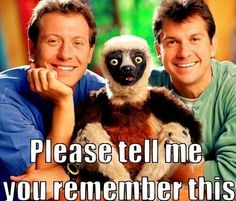 Oh my gosh! I know this! Ugg, I feel so old. Is it just me, or was the sloth the cutest/scariest thing ever?