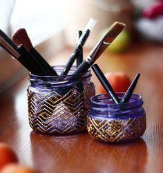 Make up brush holder, cosmetics organizer, bathroom decor, lipstick case, makeup organizer, vanity tray, bath decor, makeup storage set
